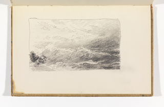 Sketchbook Folio, Waves beneath Dramatic Sky