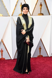 1063-24 Jewelry by Papillion Jewelry (founded 2012, Qatar) Worn by Fatma Al Remaihi to the 2018 Academy Awards