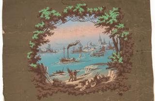 Overdoor, Overdoor with Harbor Scene