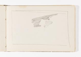 Sketchbook Folio, Unfinished Sketch, Possibly Cliffs