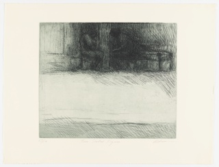 Print, Two Seated Figures, 1965