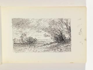 Sketchbook Folio, Study of Wind in Trees