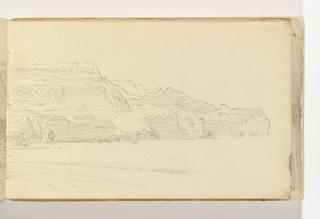 Sketchbook Folio, Sketch of Sandsend, Whitby, England
