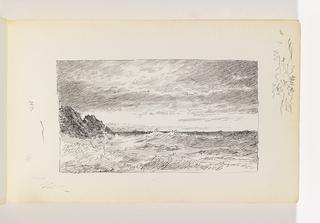 Sketchbook Folio, Choppy Sea and Cliffs