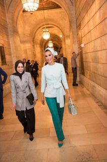 no checklist # Worn by Her Highness Sheikha Moza bint Nasser Al Missned at Development Through Education Initiative at the New York Public Library, New York, April 27, 2018