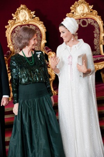 no checklist # Worn by Her Highness Sheikha Moza bint Nasser Al Missned to gala dinner honoring the Emir of Qatar by the Spanish Royal Family at the Royal Palace, Madrid, Spain, on April 25, 2011