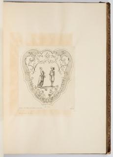 Bound Print, La Veue, plate in Oeuvre de Watteau