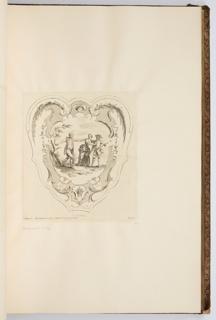 Bound Print, Le Loncher, plate in Oeuvre de Watteau