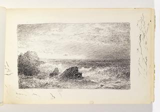 Sketchbook Folio, Waves and Rocks