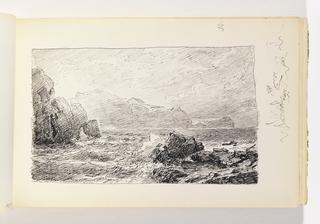 Sketchbook Folio, Rocky Coast and Distant Cliffs