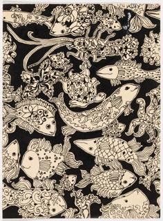 Drawing, Sea Fantasy