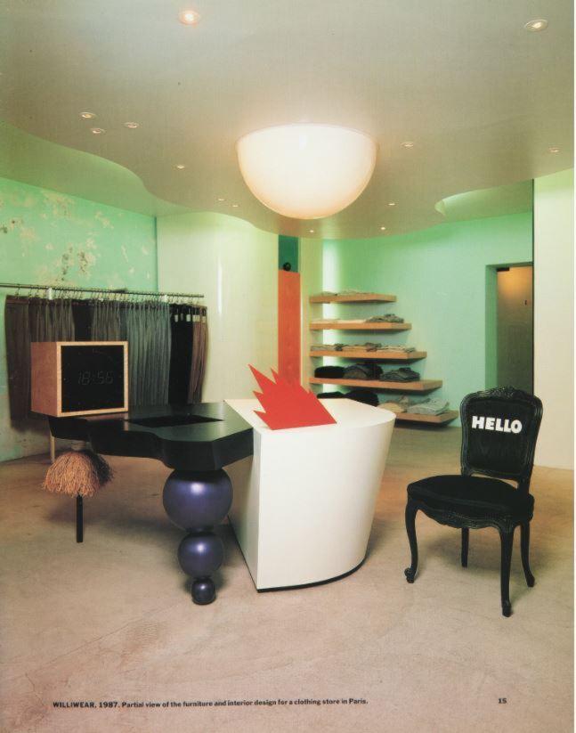 Photograph, WilliWear Store, Paris, France, 1987
