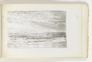 Sketchbook Folio, Seascape with Breaking Waves and Light-Filled Sky