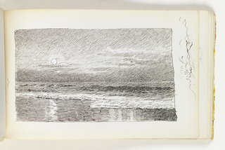 Sketchbook Folio, Seascape with Full Moon