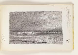 Sketchbook Folio, Nightime Seascape, © June 12, 1979