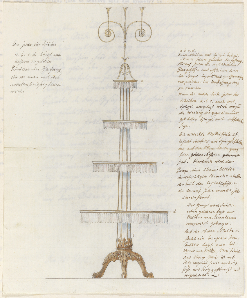 Drawing, Design for a Display Stand
