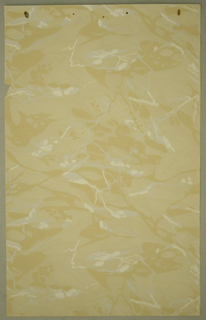 Faux-marble design on an off white background with hints of tan and white.