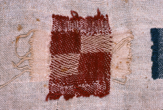 Fourteen darning patches.
