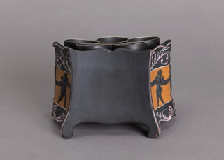 Black Basalt Bulb Pot Bulb Pot