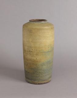 "Ceramic from 10th National Ceramic Exhibition, Syracuse 1941 as follows: ""Large stoneware vase by Maija Grotel"""