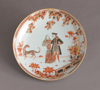 Plate Depicting Hendrik Durven, Governor General of the Dutch East Indies (VOC), and His Wife Plate, ca. 1740