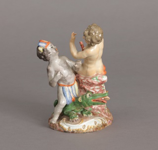 "Allegorical Figure Depicting Putti as ""Europe"" and ""America"" Figure, late 18th century"