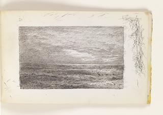 Sketchbook Folio, Flat Ocean with Dark Clouds