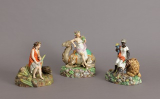 "Allegorical Figures of ""Asia"", ""Africa"", and ""America"" Figures, late 19th century"