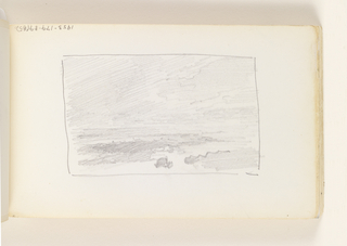 Sketchbook Folio, Unfinished Study of Sky (recto); Rough Study of Beach, Ocean and Sky (verso), 1890–1900