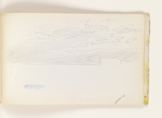 Sketchbook Folio, Unfinished Study of Sky (recto); Rough Study of Beach, Ocean and Sky (verso)