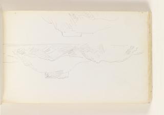 Sketchbook Folio, Rough Sketch of Connanicut Island and Fort Adam, 1890–1900