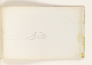 Sketchbook Folio, Rough Sketch of Connanicut Island and Fort Adam