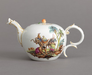 "Teapot with Allegorical Scenes of ""Africa"" and ""America"" Teapot"