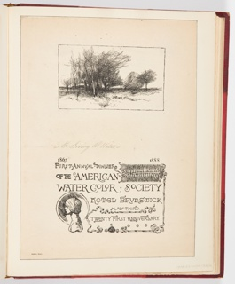 Ephemera, First Annual Dinner of the American Water Color Society, 1888