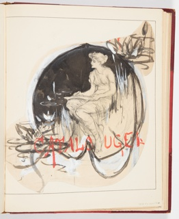 Ephemera, Study for Cover of Exhibition Catalogue, ca. 1904