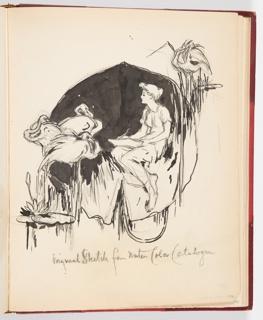 Ephemera, Original Sketch for Water Color Catalogue, ca. 1904