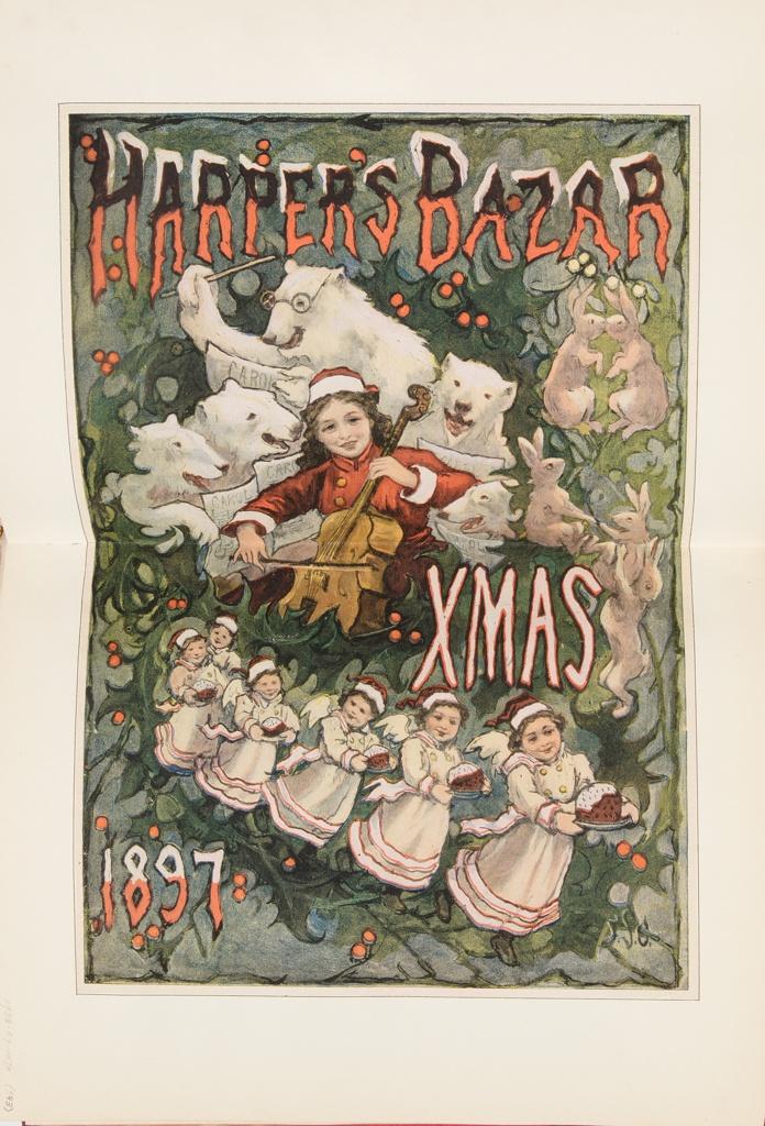 Ephemera, Cover for Harper's Bazar, Xmas, 1897, 1897