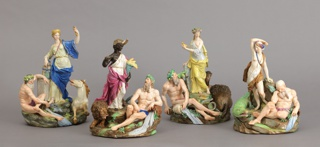 """Allegorical Figural Groups of the """"Four Continents"""" Figures"""