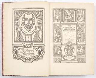 Book, Frontispiece of The Anatomy of Melancholy