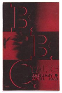 Brochure, B.B.C. Talks