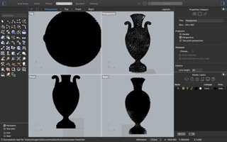 .3DM file containing geometries in proprietary format for the printing of Tall Green Bloom Urn