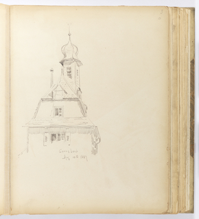 Album Page, Detail of Tower, Gernsbach, Germany