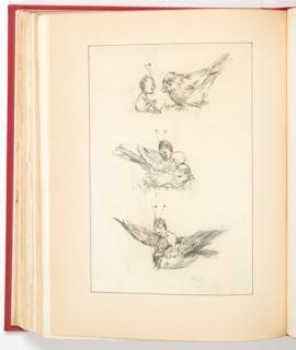 Ephemera, Sketches for Broken Friendship, Illustrations for St. Nicholas Magazine (XXI, No. 5, March 1894)