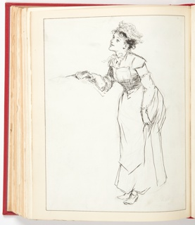 Ephemera, Sketch for Flap Jacks, Illustration for Harper's Weekly (XXXVI, No. 1878, December 17, 1892, p. 1217)