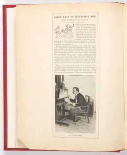 Ephemera, Early Days of Successful Men, Article for Harper's Young People (XLV, No. 804, March 26, 1895, p. 364-365)