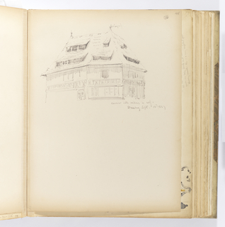 Album Page, Timbered Building, Strassburg
