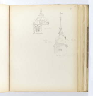 Album Page, Gable and Tower, Heidelberg