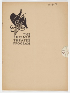 Pamphlet, Late Night Final, The Phoenix Theatre