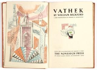 Book, Frontispiece of Vathek