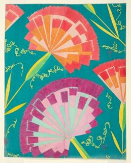 Drawing, Textile Design: Purpurnelke (Purple Pink), 1924